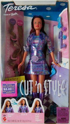 2002 Cut 'n Style Teresa Doll (Friend of Barbie) (New)