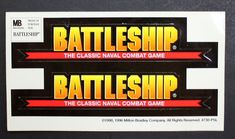 Battleship Sticker From The Classic Naval Combat Game! Milton Bradley, Traditional Games, Battleship, Stickers, Store, Classic, Ebay, Derby, Tent