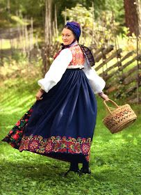 FolkCostume&Embroidery: Overview of Norwegian Costumes, part 2. The eastern heartland
