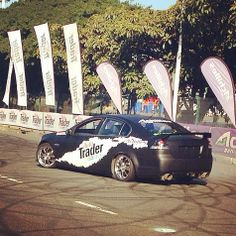 Auto Trader Chevy Lumina V8 at The Demo Strip at the Top Gear Festival in Durbs today.