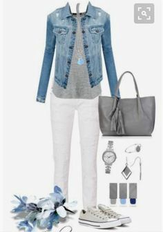 Michael kors, witchery, spring street, phillip gavriel and burberry petite fashion Mode Outfits, Jean Outfits, Fall Outfits, Casual Outfits, Summer Outfits, Fashion Outfits, Womens Fashion, White Jeans Outfit Summer, White Pants Outfit