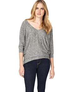 Phase Eight Becca Space Dye V Neck Knitted Jumper Grey