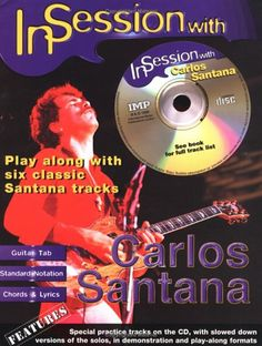 In Session with Carlos Santana: Guitar TAB (Book & CD)