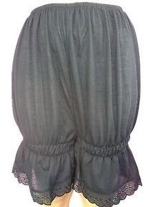 PCP01 black New Women Petti pants Cotton Half Slips Pettipants Lace Hem Culottes