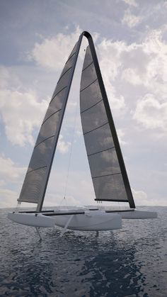 Hydrofoil sailing trimaran - flying on water Sailboat Yacht, Yacht Boat, Boat Building Plans, Boat Plans, Yacht Design, Boat Design, Foil Boat, Sailboat Interior, Small Sailboats