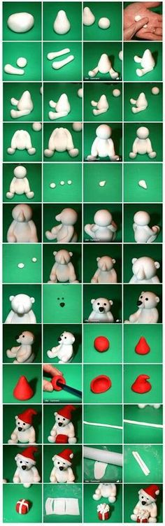 Cute Polar Bear  **this is to be for cake decorating, so I guess it is fondant, but it looks like it would work great for clay**