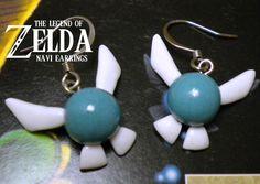 Navi Earrings  Glow in the Dark  Legend of by ElvenStarClayworks, $23.00