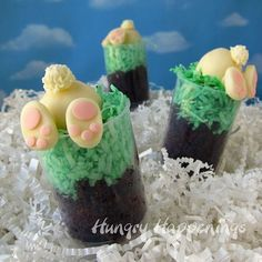 Down the Bunny Hole Push-up Pop Cupcakes