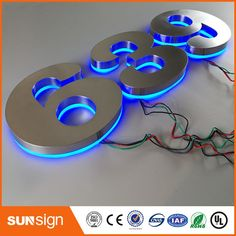 Electronic Components & Supplies Sunsign Modern Design Transparent 3d Acrylic Sign Letters For Sale