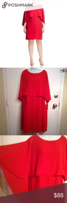 52319a3b12adf NWT Vince Camuto Plus Size Soufflé Dress With Cape New with tags. Vince  Camuto plus