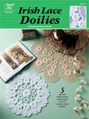 These Irish lace doily patterns are very unique.  Haven't seen anything like it.  And I LOVE to thread crochet.