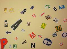 Busquem lletres i les encolem!!!