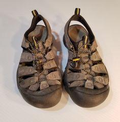 95eb8c9854e Keen Women s Sport Waterproof Hiking Sandals Shoes Size 8 Gray Black Leather