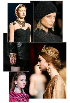 Tendances bijoux Fashion Week automne-hiver 2013-2014 Balmain Dior Lanvin Saint Laurent Givenchy Oscar de la Renta Dolce & Gabbana Versace