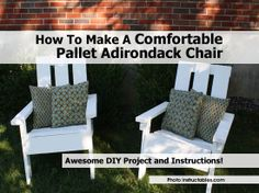 How To Make A Comfortable Pallet Adirondack Chair - http://www.hometipsworld.com/how-to-make-a-comfortable-pallet-adirondack-chair.html