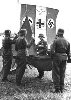 German soldiers taking the oath.