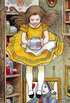 """Alice in Wonderland"", illustration by Maria Kirk."
