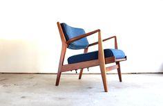 1950's Jens Risom U430 Lounge Chair in Walnut - Modern Love: Mid-Century Modern Furniture, Lighting, Design