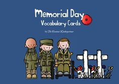 Memorial Day Vocabulary Cards - Freebie!