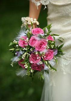 Feather Wedding flowers