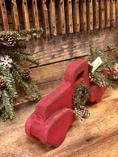 """Primitive Iconic """"Little Red Truck"""" Handmade Wood Rustic Holiday Decor Thanksgiving Wood Crafts, Christmas Wood Crafts, Primitive Christmas, Thanksgiving Decorations, Christmas Projects, Handmade Christmas, Holiday Crafts, Christmas Crafts, Holiday Decor"""