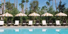 Parker Palm Springs Luxury Hotel Patio Umbrellas at Home Infatuation Blog
