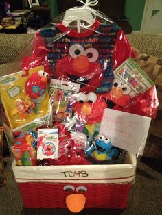 Elmo gift basket