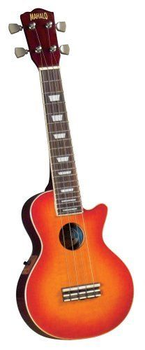 Mahalo ULP-30ECH LP  Style Ukulele with Pickup and Gig Bag (Cherry Sunburst) by Mahalo. $107.99. The most exciting brand of ukuleles on the market today just got even better by offering several new ukuleles in two of the most iconic guitar shapes made famous throughout the 1950's and 60's. The ULP-30ECH LP Style Ukulele in Cherry Sunburst  with pickups, though the look of this instrument speaks of rock and roll, it still retains that traditional tone and charm of th...