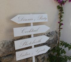 Panneau mariage en bois . Flèches mariage Pancartes direction