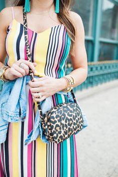 Stripe Midi Dress / Spring Outfit Inspiration via Glitter & Gingham / Stripes for Spring