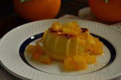Pastelitos de queso a la naranja. small cheesecakes with orange syrup http://enmilbatallas.com/2011/12/08/pastelitos-de-queso-a-la-naranja/