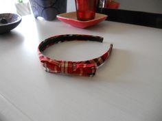 Red plaid bow headband