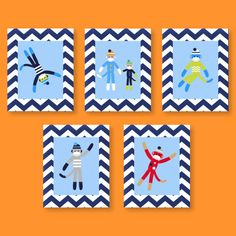 Sock Monkey Chevron Prints Nursery Art Decor for by YassisPlace, $75.00