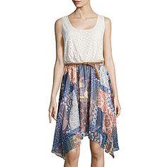$35 all sizes. jcp | Luxology Sleeveless Crochet Print Dress
