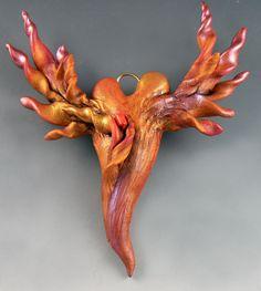 "Heart ""Renewed""by Christi Friesen,polymer clay jewerly & art design"