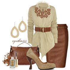 Neutrals From Head to Toe-- wish I had somewhere to wear this