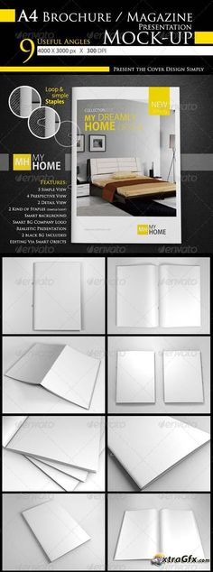 GraphicRiver Photorealistic A4 Brochure / Magazine Mock-Up