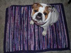 locker hooking dog mat