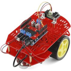 The Magician Chassis is our latest robot platform from Dagu. It features two gearmotors with wheels and a rear caster. The chassis plates are cut from Arduino, Latest Robots, Robot Platform, Robot Chassis, Make A Robot, Robot Kits, Space Illustration, Rubber Tires, Diy Electronics