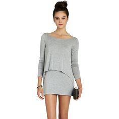 BCBGENERATION Overlay Long-Sleeve Dress