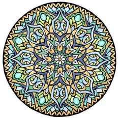 Mystical Mandala Coloring Book (Dover Design Coloring Books) by Alberta Hutchinson - p.22 (colored by Lenore1216)