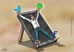 30 ilustraciones devastadoras acerca de la peligrosa adicción a Internet. La imagen es aterradora... :: Holahola