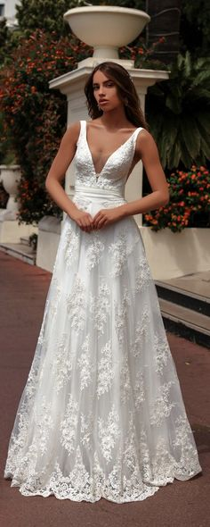 Katherine Joyce Ma Cherie Wedding Dress Perla / http://www.deerpearlflowers.com/katherine-joyce-wedding-dresses-2018/