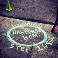 via | random acts of kindness.....  Could be something cute to do on the sidewalk!!  :)