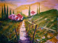 Tuscan landscape My Arts, Paintings, Landscape, Scenery, Paint, Painting Art, Painting, Painted Canvas, Drawings