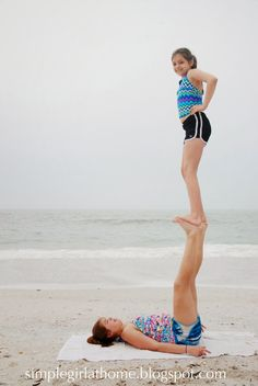 Simple Girl: Two-Person Stunts and other Tweenage Vacation Photo Ideas