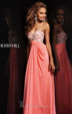 Strapless Embellished Gown by Sherri Hill 3863