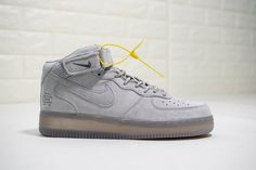 Reigning Champ x Nike Air Force 1 Mid  07 All Grey Suede Nike Air Force 28cf22ee3