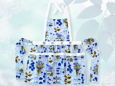 Button Top Apron in Spring Florals | Sew4Home