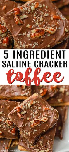 Instant Pot Vegetable Lo Mein This Saltine Cracker Toffee is easy to make and sometimes called Christmas crack. This Saltine Cracker Toffee recipe is a favorite and is perfect for the holidays. Everyone will devour this toffee recipe! Köstliche Desserts, Delicious Desserts, Dessert Recipes, Dinner Recipes, Holiday Baking, Christmas Baking, Candy Recipes, Cookie Recipes, Beef Recipes